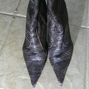 Henry Ferrera brown, midcaf, high heel boots